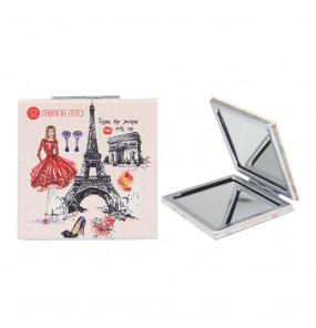 Espelho Quadrado de Bolso Paris Rosa Sabrina Sato