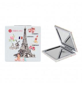 Espelho Quadrado de Bolso Paris Azul Sabrina Sato