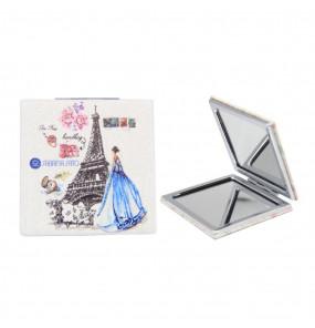 Espelho Quadrado de Bolso Paris Branco Sabrina Sato