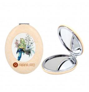 Espelho Oval de Bolso Passarinho Sabrina Sato