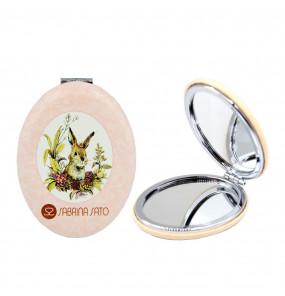 Espelho Oval de Bolso Coelhinho Sabrina Sato