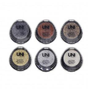 Glitter Metálico Bright Effect Uni MakeUp