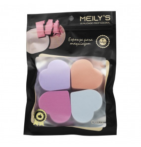 Kit 4 Esponjas de Coração Meily's