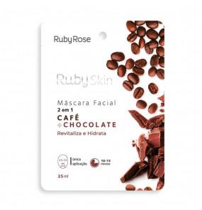 Máscara Facial 2 em 1 Ruby Skin Café + Chocolate Ruby Rose