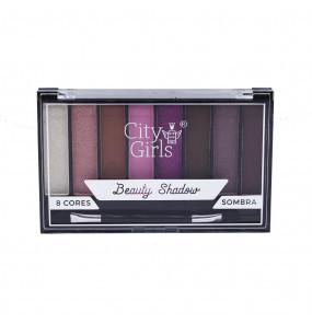 Paleta de Sombras Beauty Shadow 8 Cores City Girls